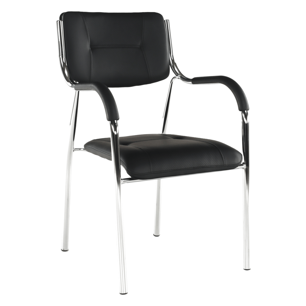 Stohovateľná stolička, čierna, ILHAM