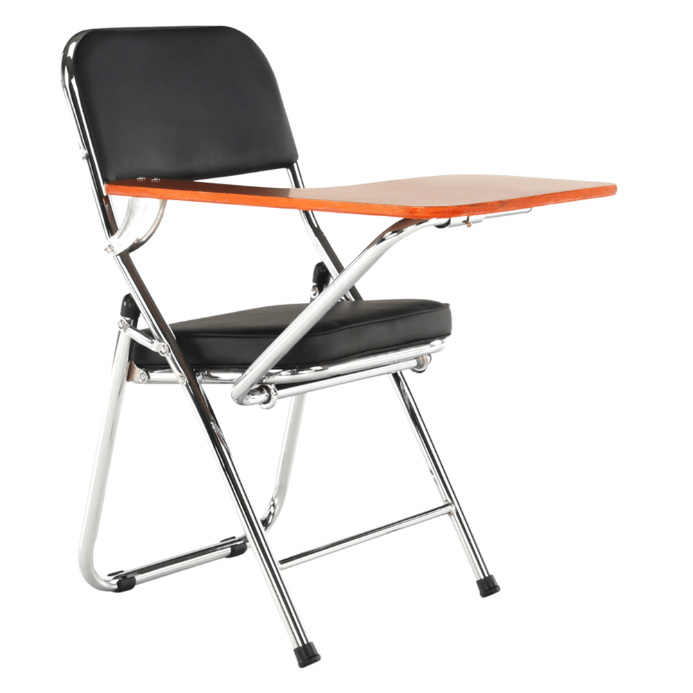Židle s deskou na psaní, černá/přírodní, TEKER, TEMPO KONDELA