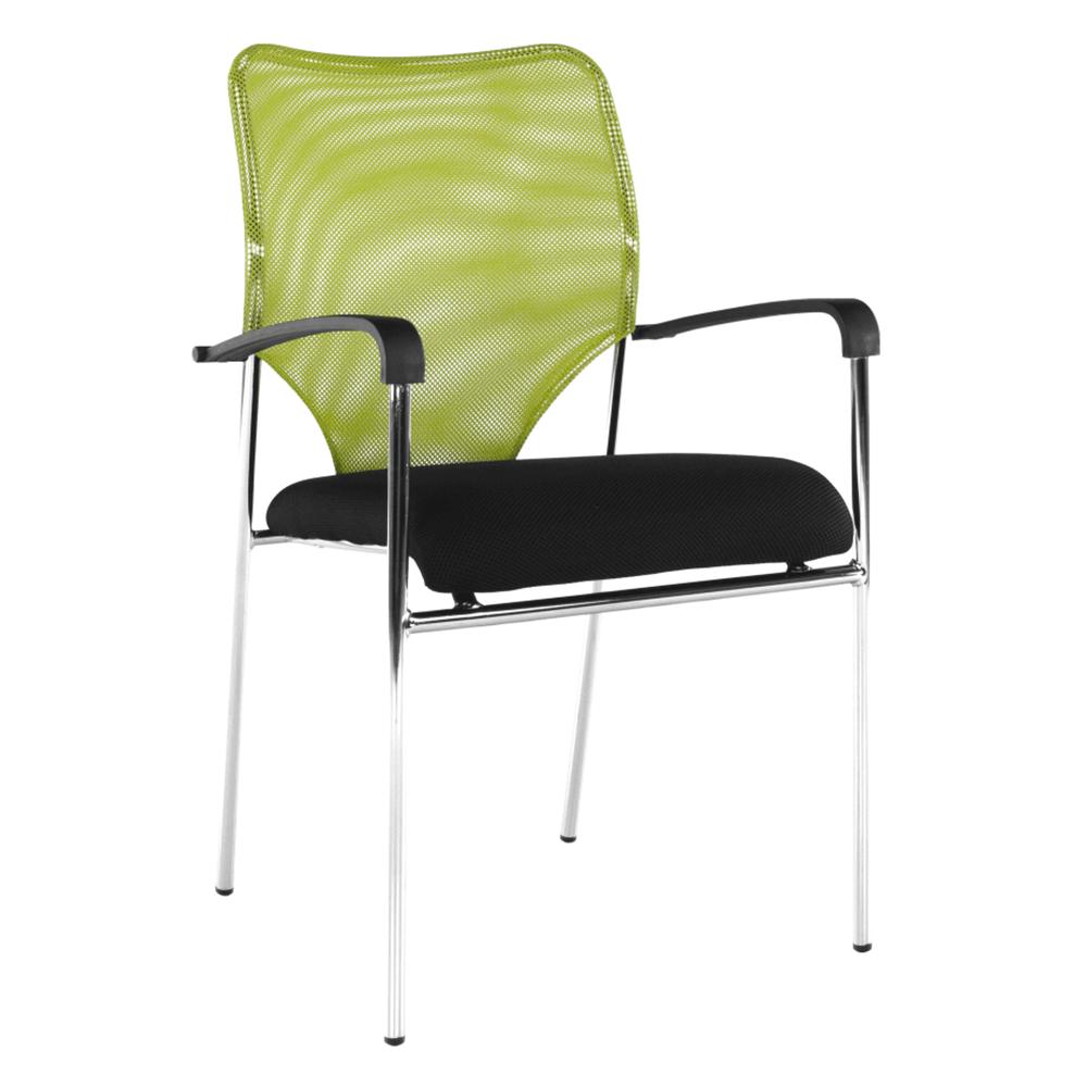 Zasadacia stolička, zelená/čierna, UMUT