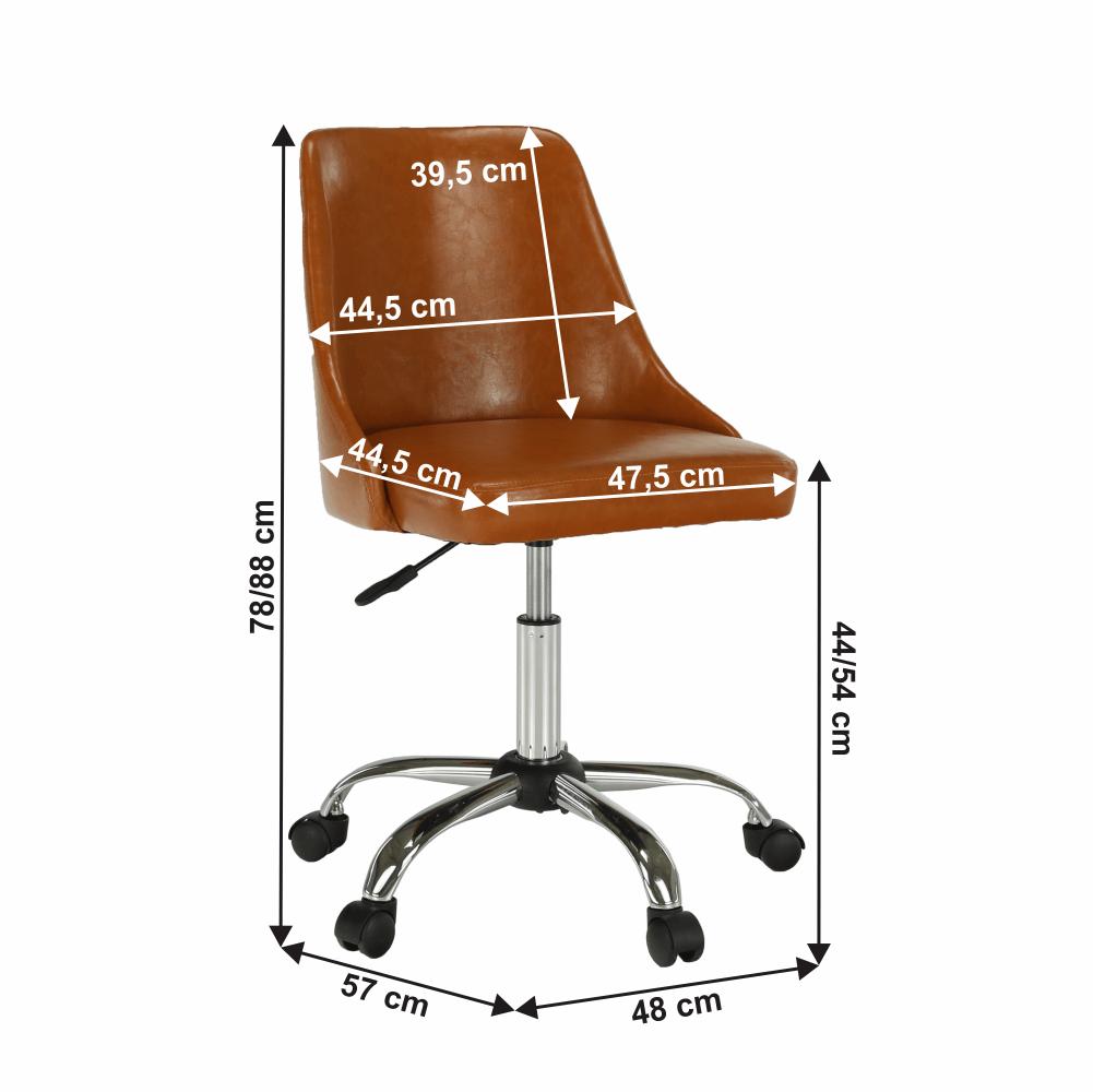 Kancelářská židle, koňaková / chrom, Ediz
