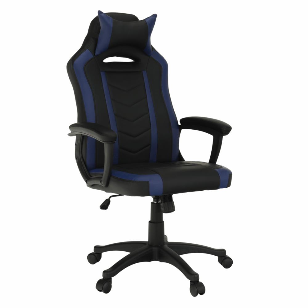 AGENA - Kancelářské/herní křeslo, černá/modrá, TEMPO KONDELA