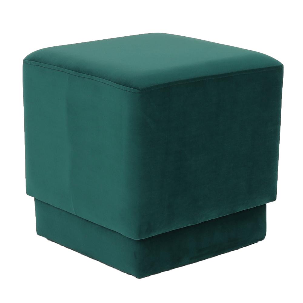 Taburet, smaragdová Velvet látka, Alim, TEMPO KONDELA