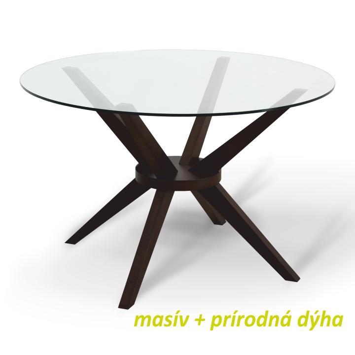 Jedálenský stôl, wenge, GLAS, Dopredaj