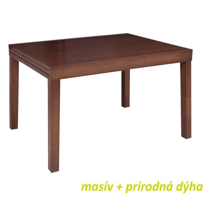 Jedálenský stôl, rozkladací, orech, FARO, poškodený tovar