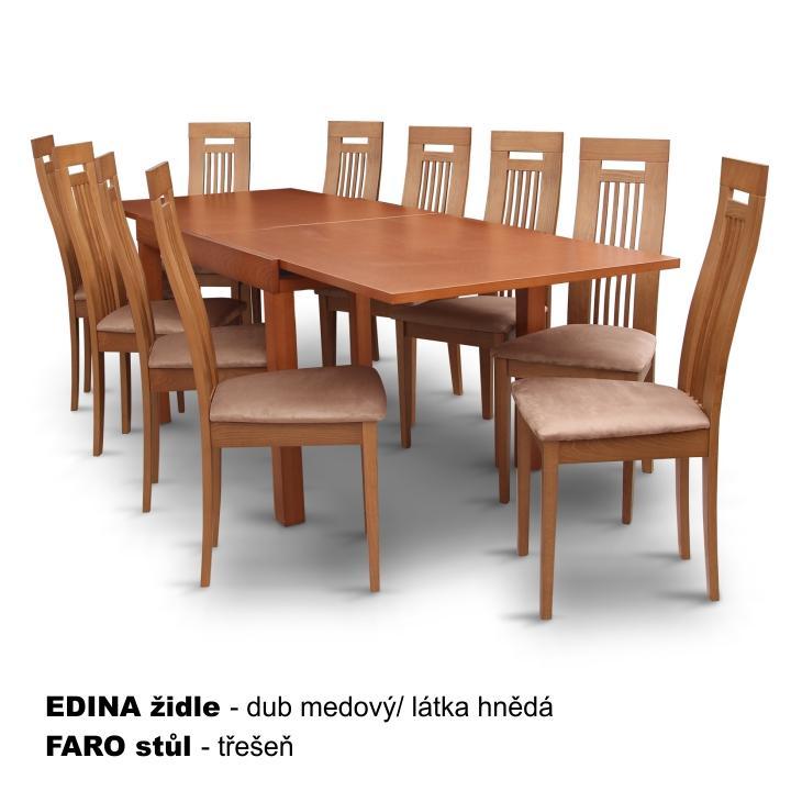 Jídelní stůl, rozkládací, třešeň, FARO, TEMPO KONDELA