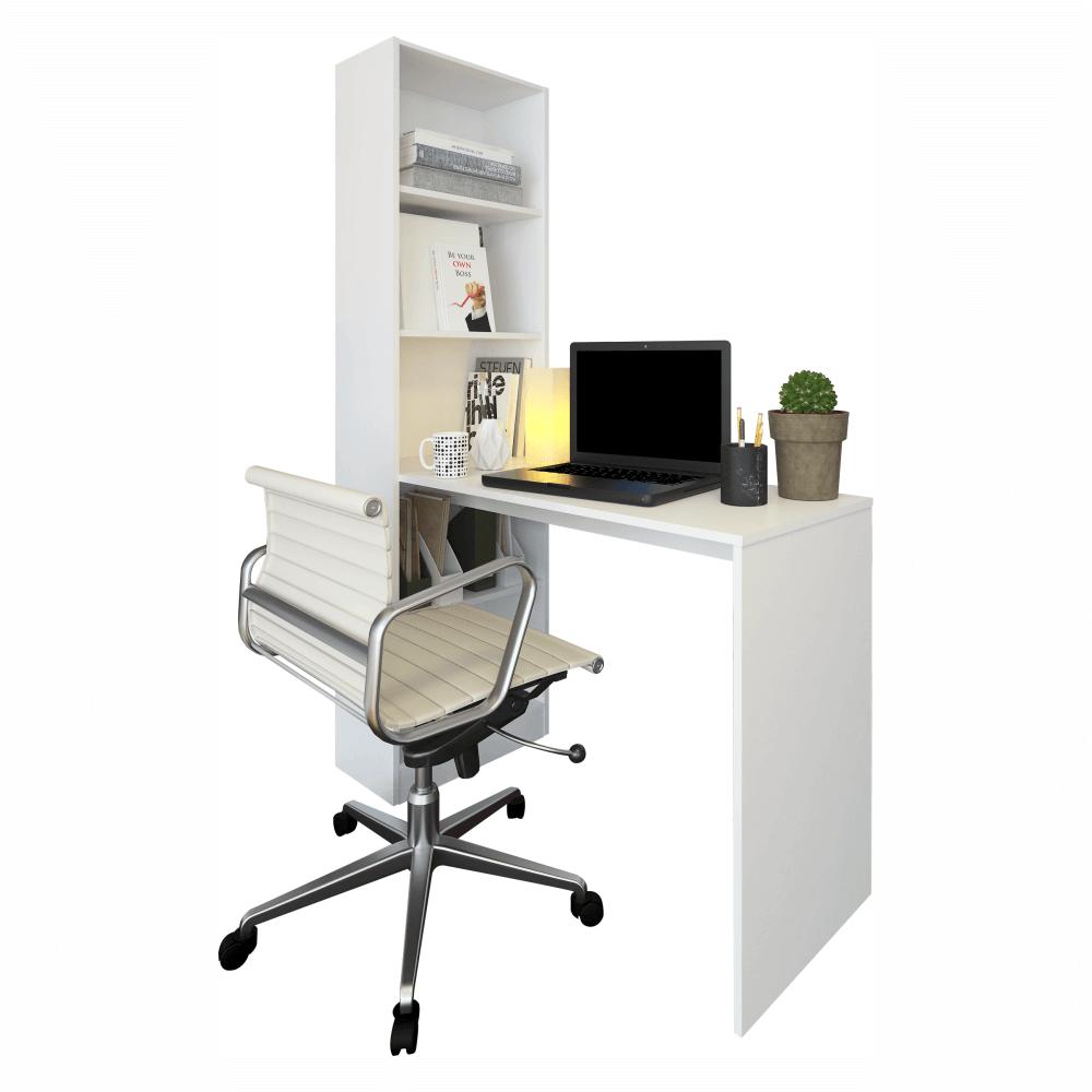 Masă (birou) multifuncţională, alb, JASMIN
