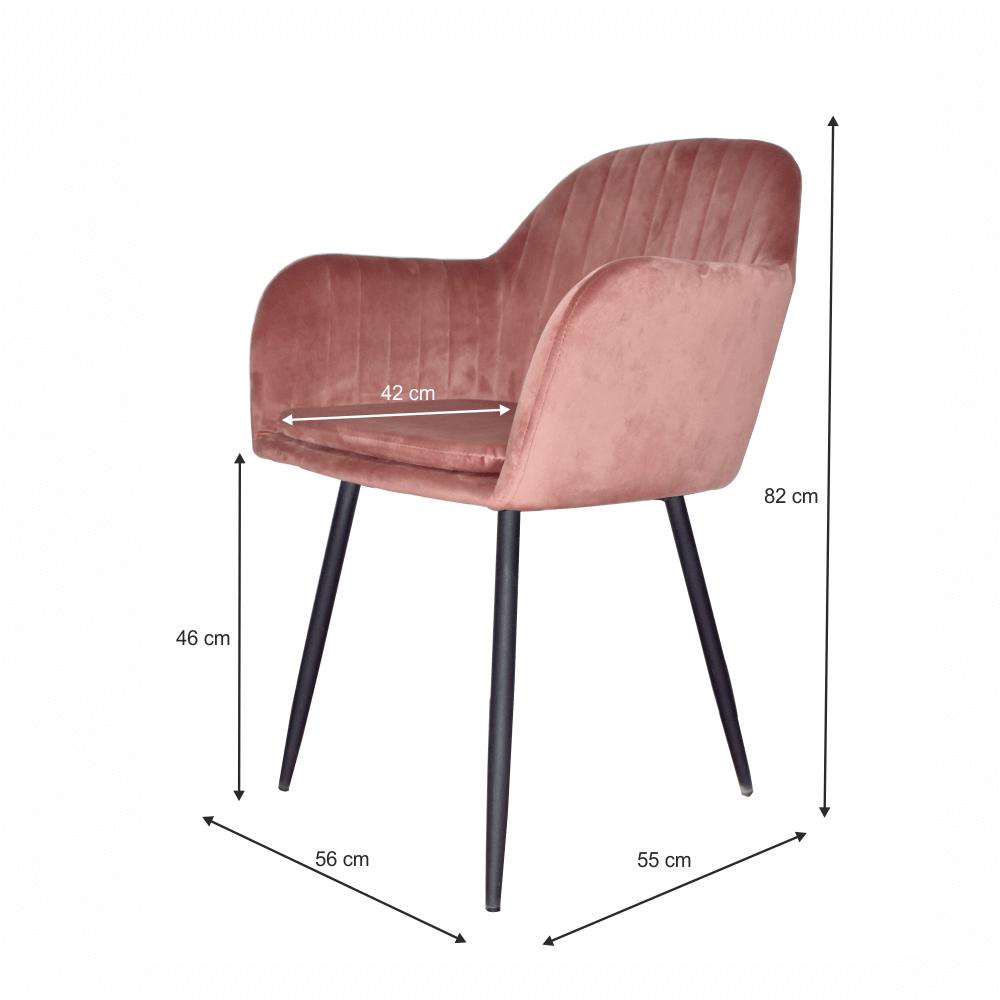 Designové křeslo, růžovohnědou Velvet látka, ZIRKON