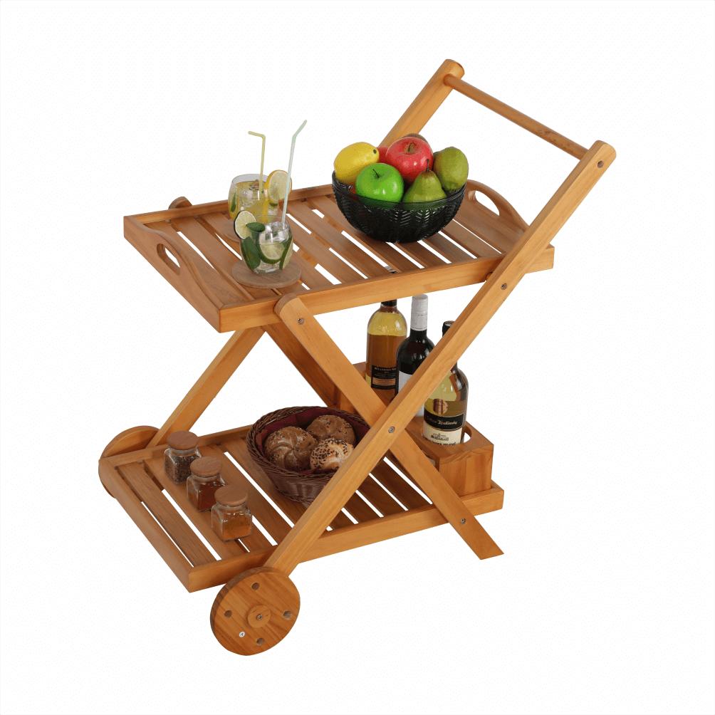 Servírovací vozík, prírodná, PIRAT