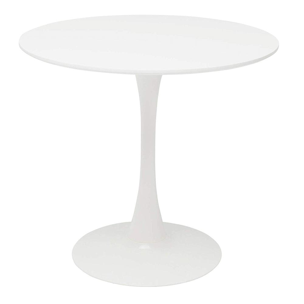 Jedálenský stôl, okrúhly, biela matná, REVENTON