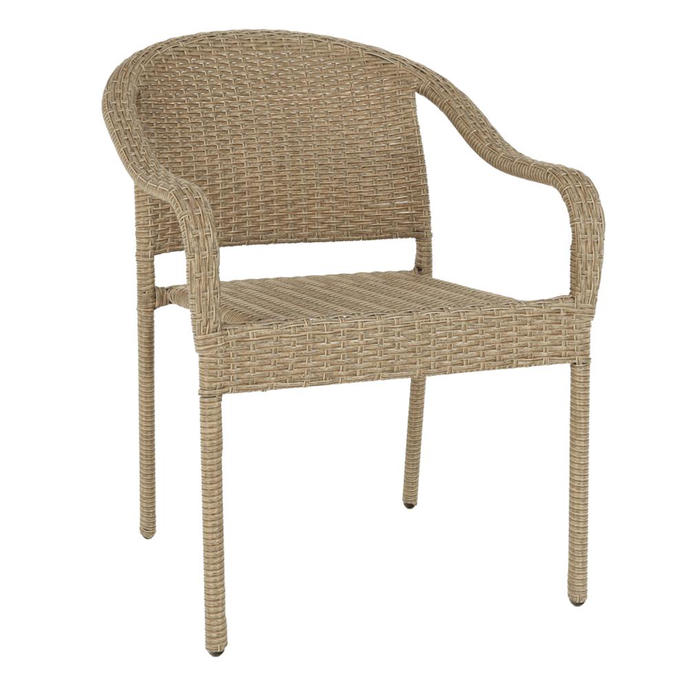 Záhradná stohovateľná stolička, hnedá, BINGA