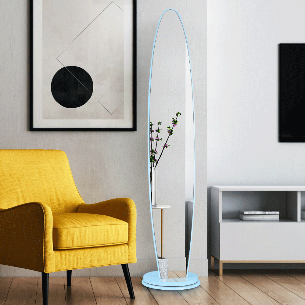 Stojanové zrcadlo, modrá, TARAN