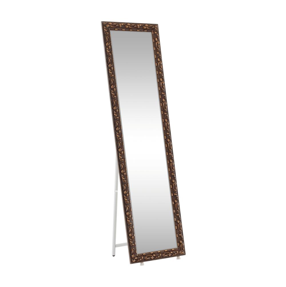 Dizajnové zrkadlo, hnedá, PANTOS