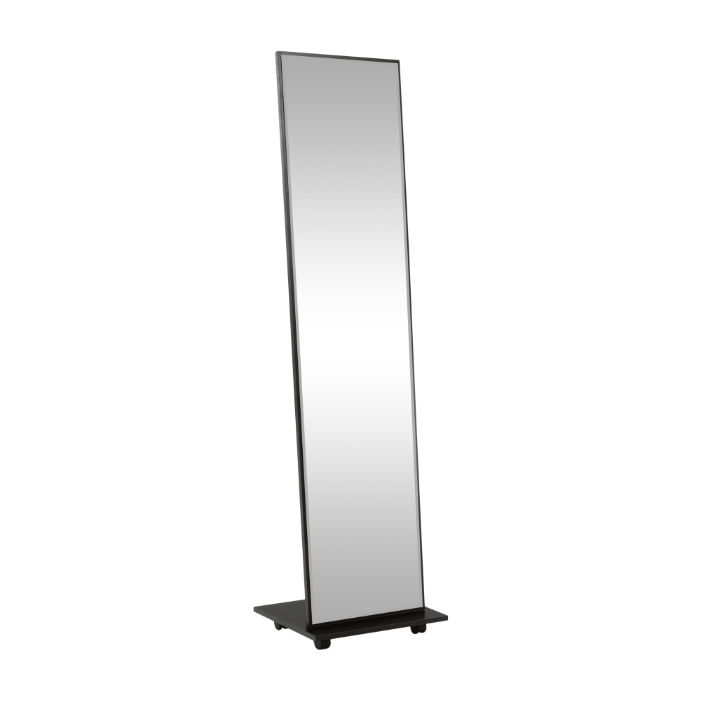 Zrkadlo na kolieskach, čierna, NEPTUN