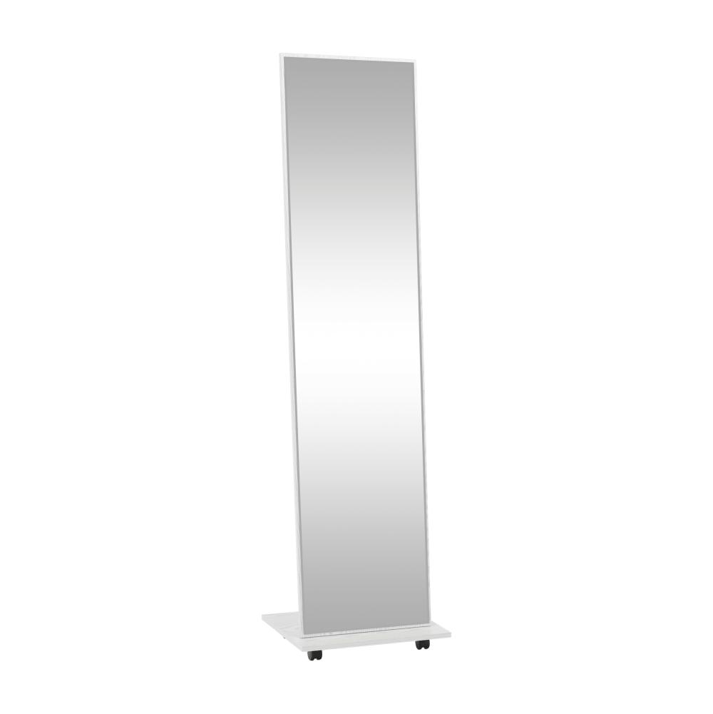 Oglindă cu roţi, alb NEPTUN