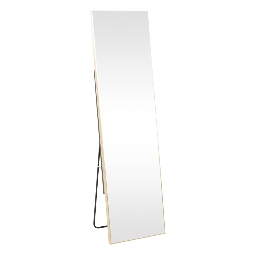 Stojanové zrcadlo, zlatá, LUSET, TEMPO KONDELA