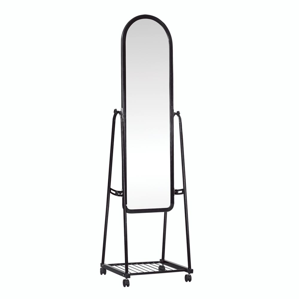 Zrkadlo na kolieskach, čierna, DUMAS