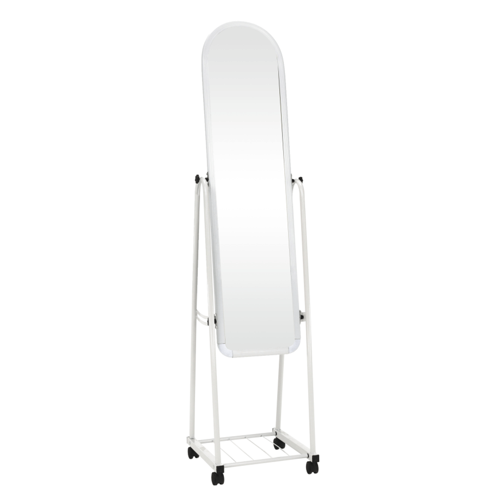 Zrkadlo na kolieskach, biela, DUMAS