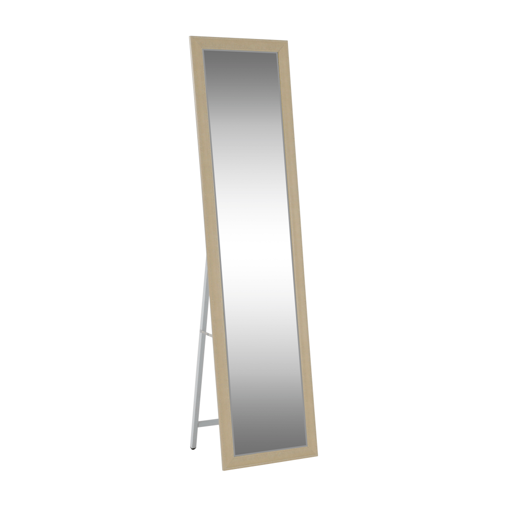 Zrkadlo, béžová/biela, ASUEL