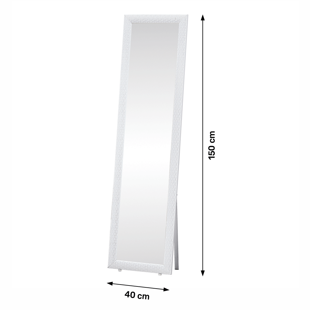 Stojanové zrcadlo, bílá, LAVAL