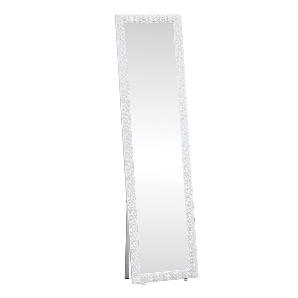 Stojanové zrcadlo, bílá, LAVAL, TEMPO KONDELA