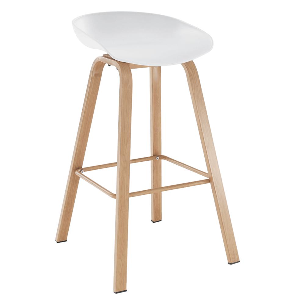 Bár szék, fehér/természetes, BRAGA
