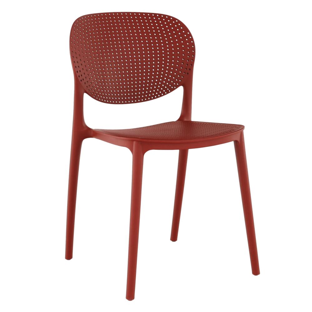Stohovateľná stolička, červená, FEDRA