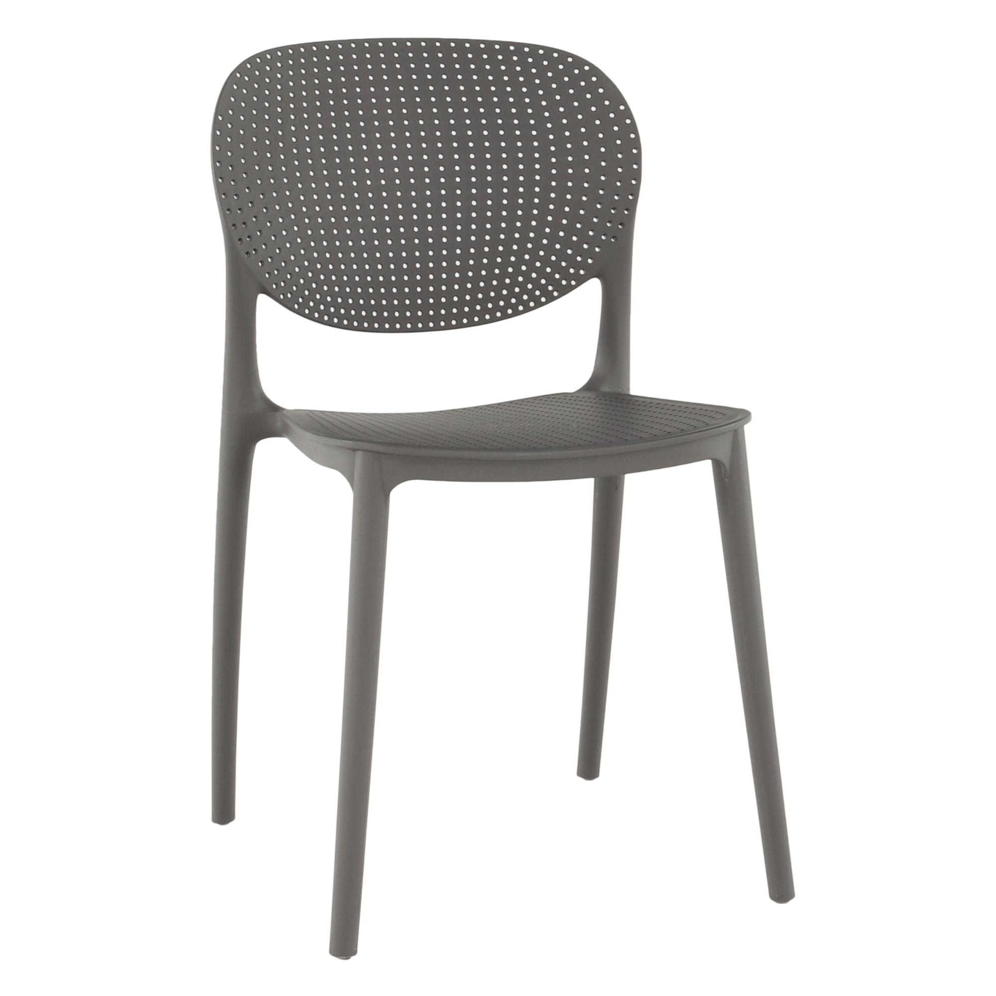 Stohovateľná stolička, tmavosivá, FEDRA