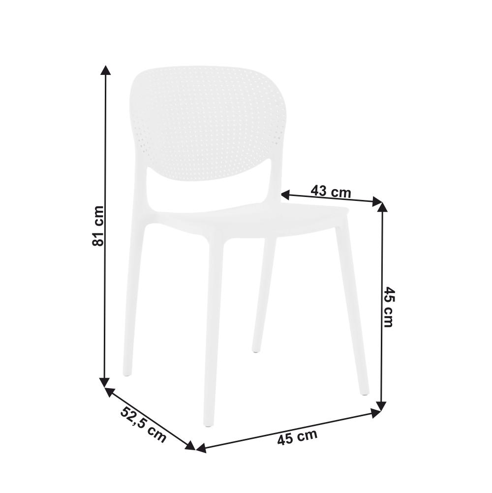 Židle, bílá, FEDRA