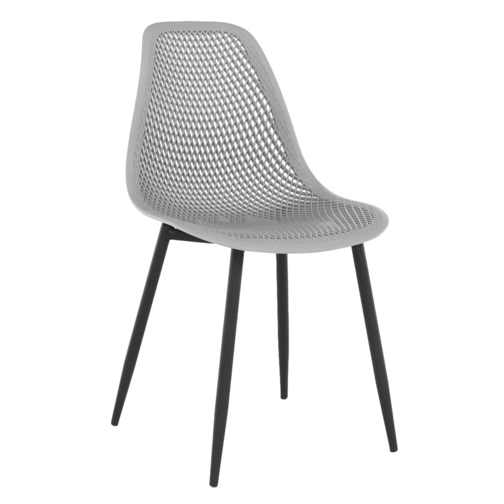Jedálenská stolička, sivá/čierna, TEGRA