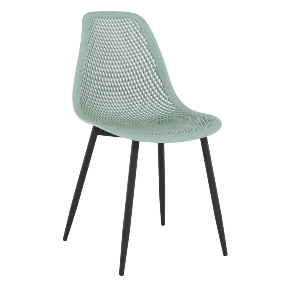 Jedálenská stolička, zelená/čierna, TEGRA