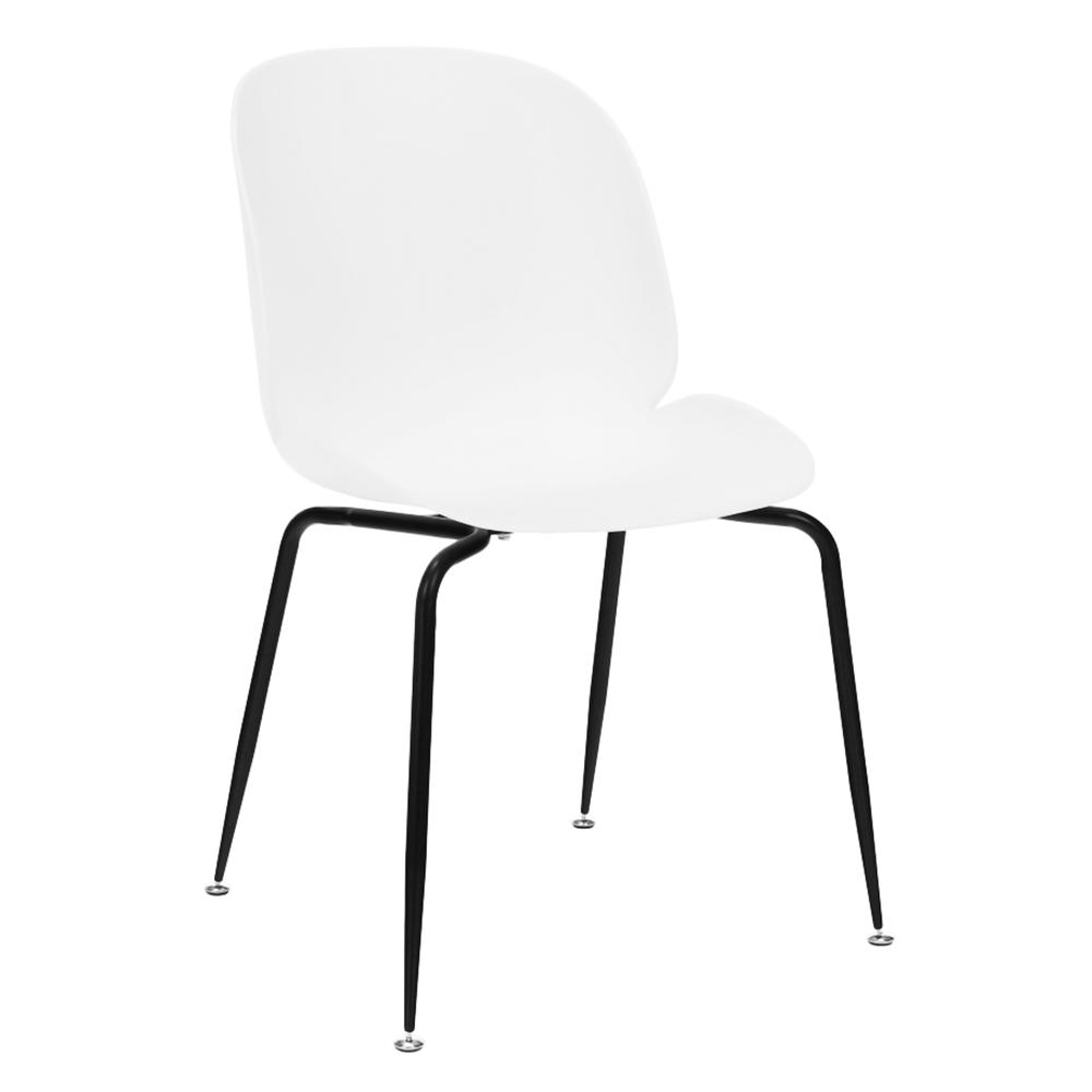 Jedálenská stolička, biela/čierna, MENTA