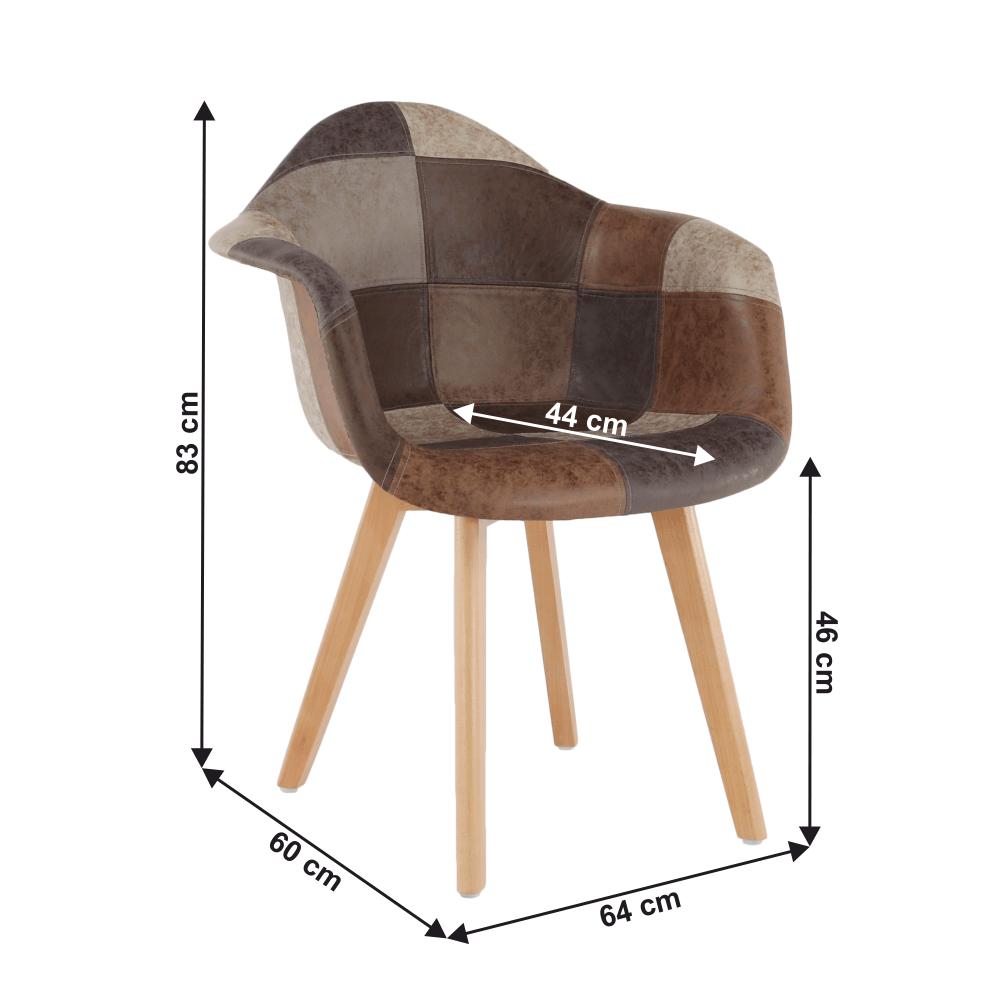 Designové křeslo, patchwork / buk, TERST