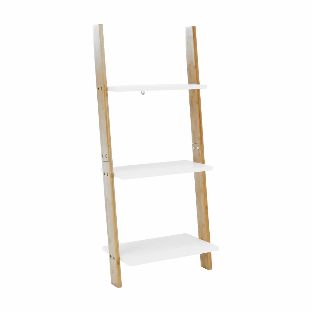 Regál, biela/bambus, GAPA TYP 1