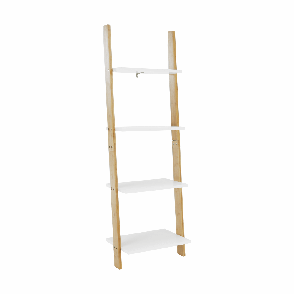 Regál, biela/bambus, GAPA TYP 2