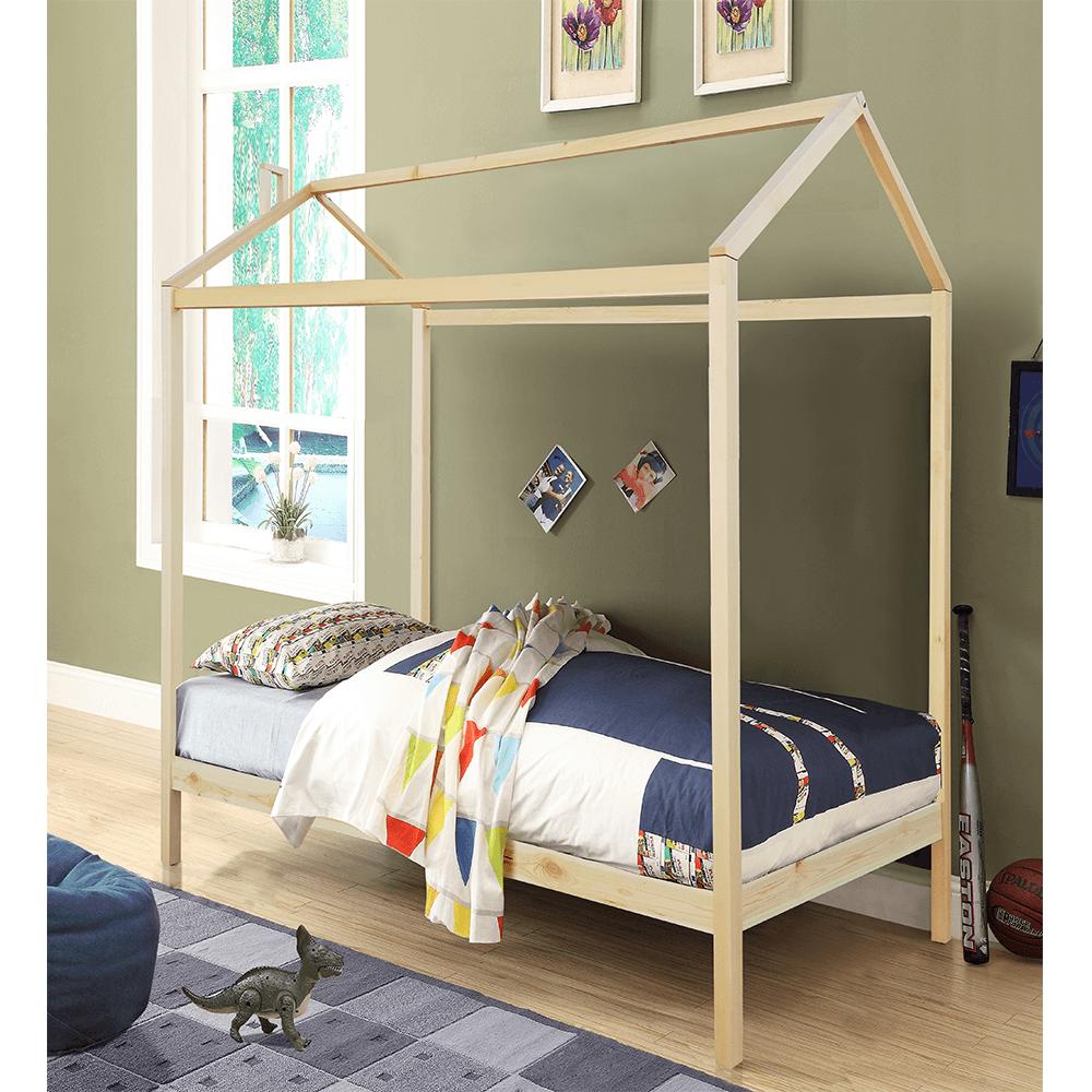 Montessori posteľ, borovicové drevo, prírodná, ATIMAD