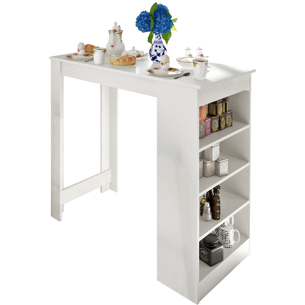 Barový stôl, biela, AUSTEN