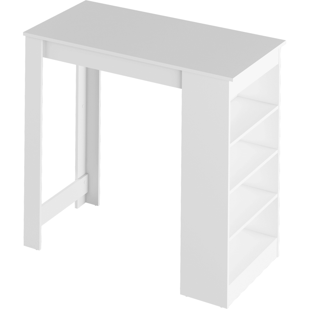 Barový stůl, bílá, Austen