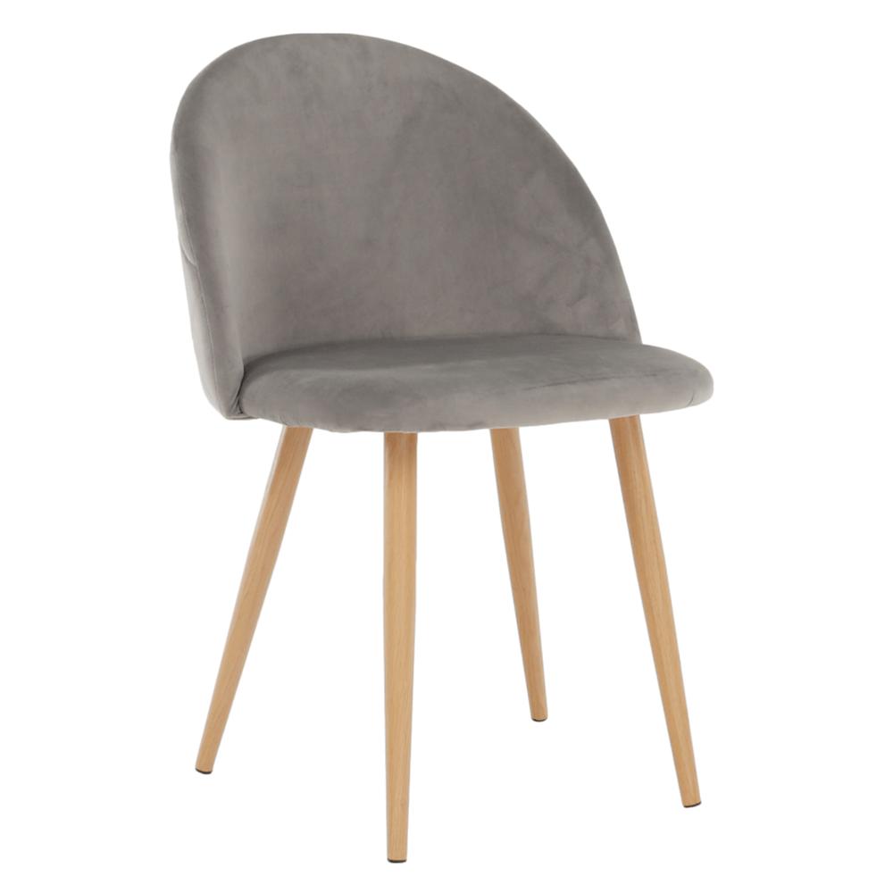 Jedálenská stolička, svetlosivá Velvet látka, FLUFFY
