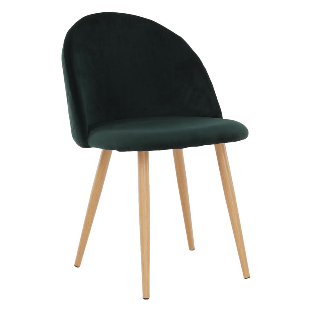 Jedálenská stolička, smaragdová Velvet látka, FLUFFY