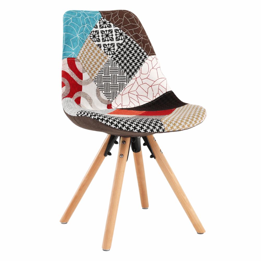 Jedálenská stolička, patchwork farebná, GLORIA