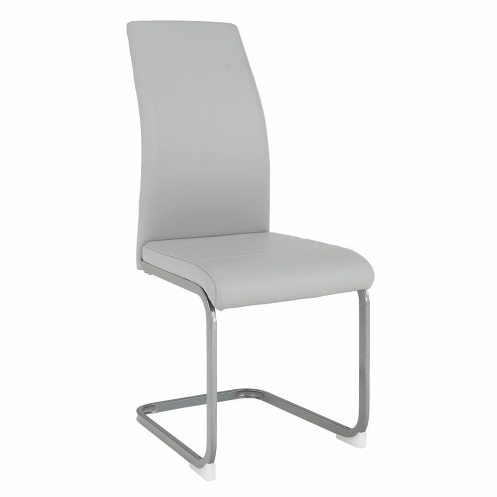 Jedálenská stolička, svetlosivá/sivá, NOBATA