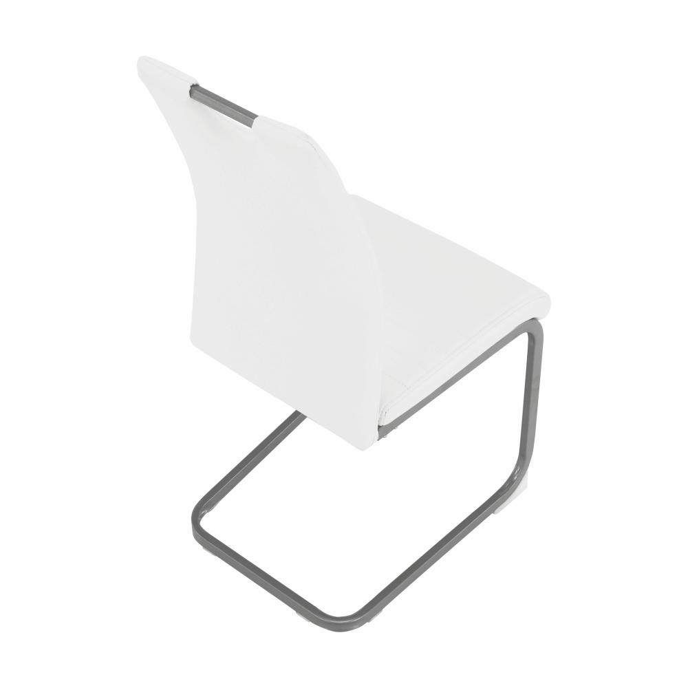 Jídelní židle, bílá, DEKOMA
