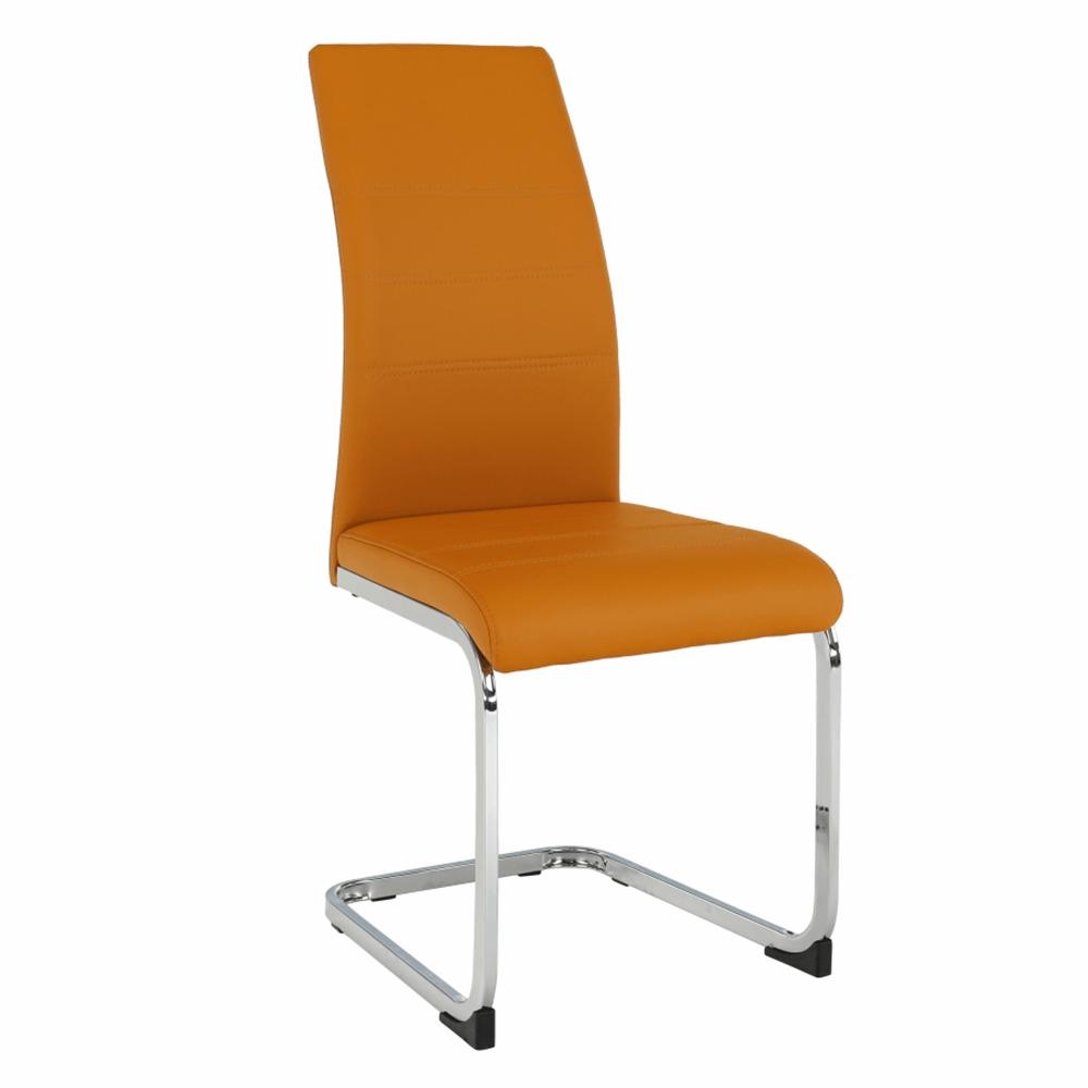 Jedálenská stolička, horčicová/chróm, VATENA