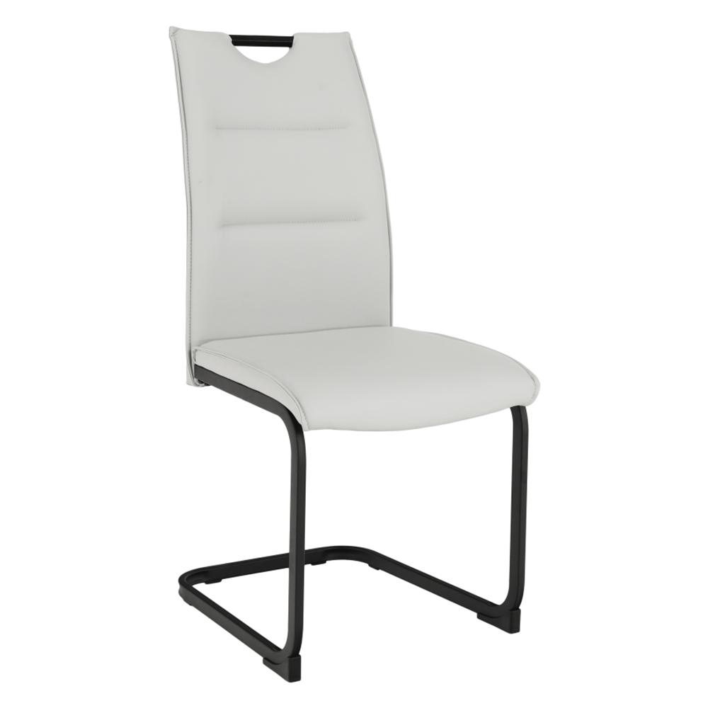 Étkező szék, világosszürke/fekete, MEKTONA