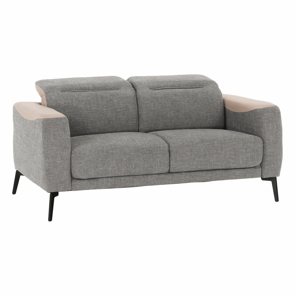 Canapea 2 locuri, gri/bej, KARITON