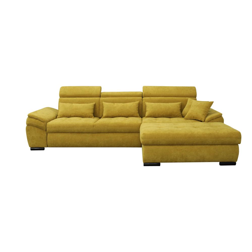 Ülőgarnitúra, mustárszínű, jobbos kivitel, NATIK NEW