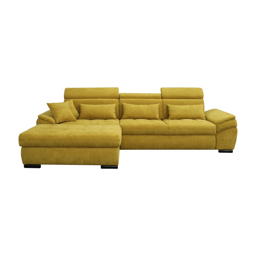 Canapea, muştar, model stânga, NATIK NEW
