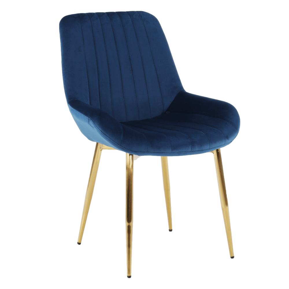 Židle, modrá/gold chrom-zlatý, PERLOS