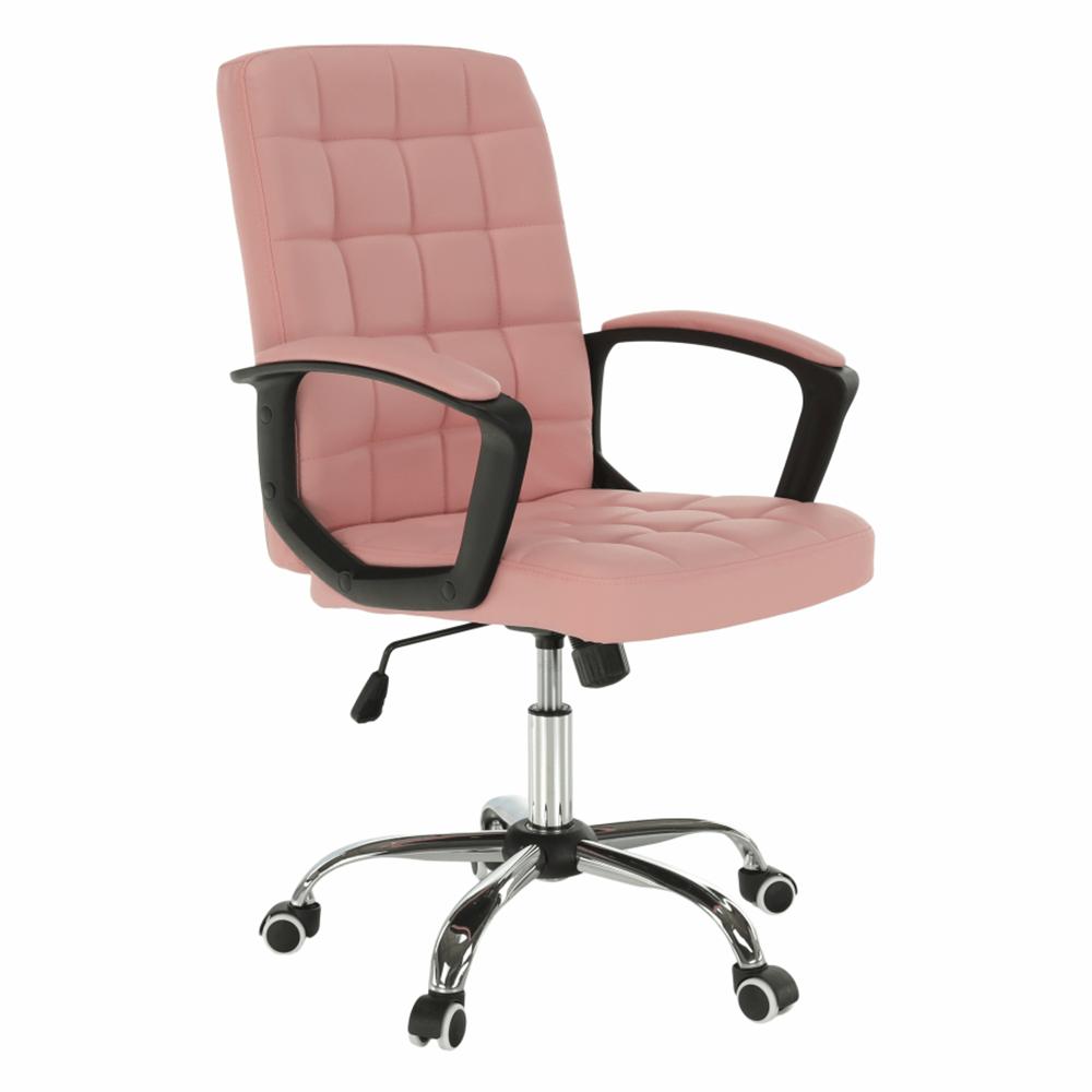 Fotoliu de birou, piele ecologică roz RULIS