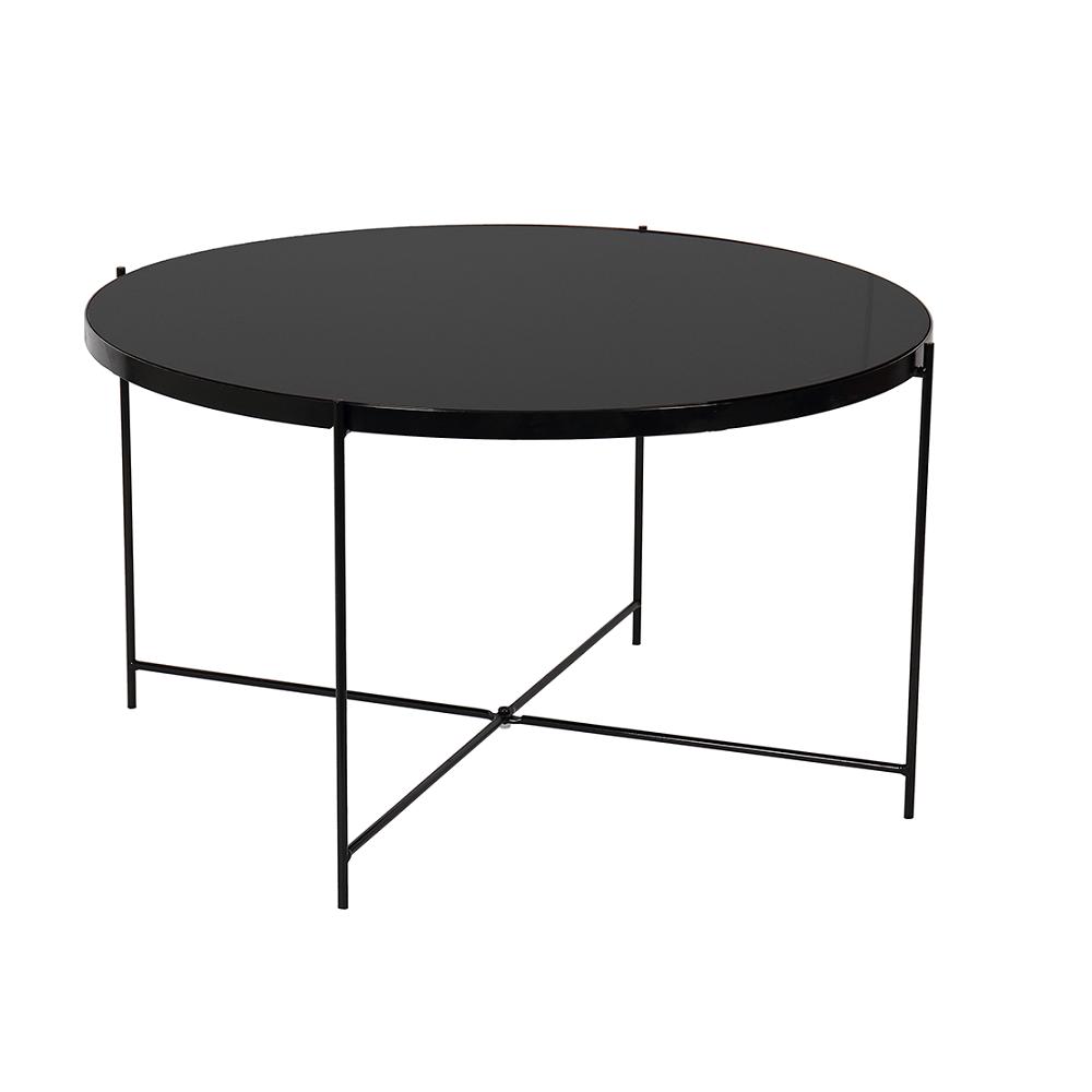Konferenční stolek, sklo/kov KURTIS